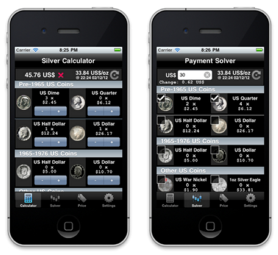 iPhone Silver Calculator